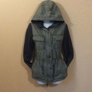 Abercrombie & Fitch mossy denim/knit jacket (S)